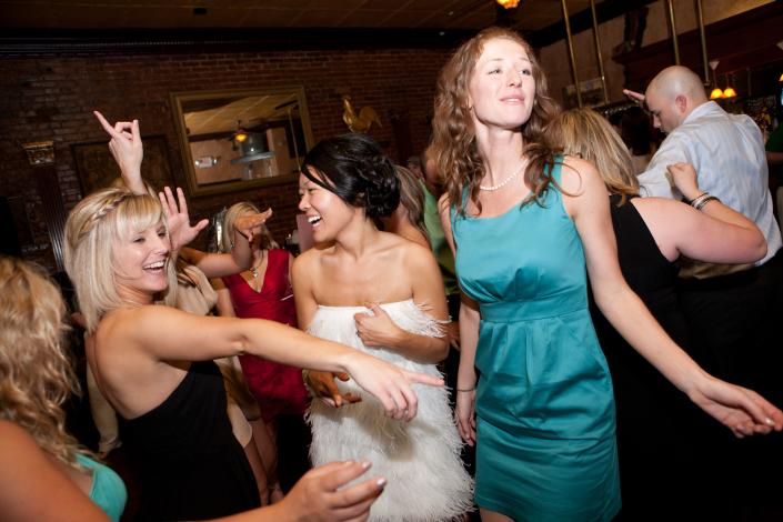 We love seeing those pearly-whites as you dance away to your favorite selections of party music.]